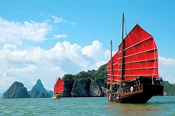 Phang Nga Bay cruise by traditional Chinese junk