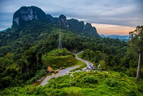 Khao Nang Hong viewpoint Phang Nga town